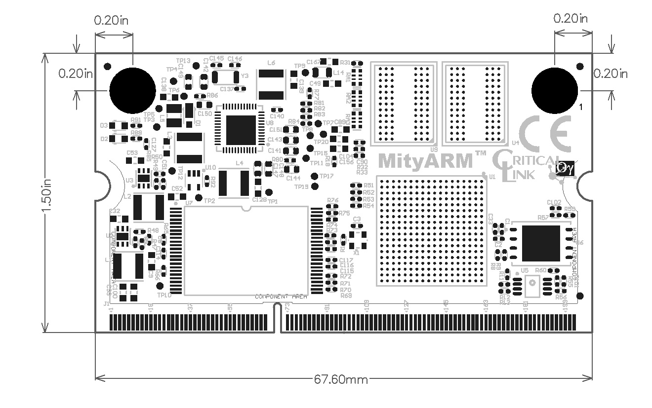 Critical Link Mitysom 335x Production Ready Sitara Am335 Solution Omap 5 Block Diagram Millimeters 6760 3810