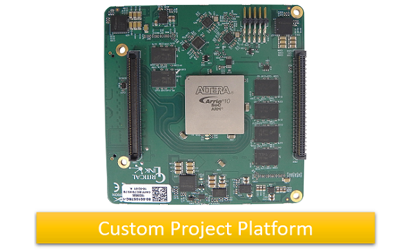 MitySOM-A10S-DSC, Arria 10 SoC board-level solution for vision / imaging and other stack-through configurations