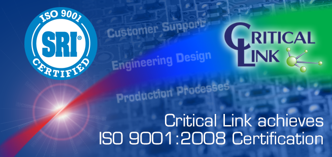 Critical Link ISO 9001:2008 Certified