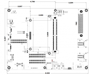 Mechanical image of the MitySOM-AM57(F) Development Board