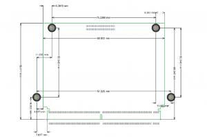 MitySOM-AM57F Mechanical Outline