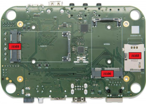 SMARC Expansion Board diagram with callouts, bottom view